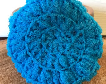 Crochet scrubby-bright blue