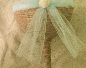 Beach Wedding Wine Glass Gift/Decor