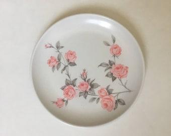 Vintage Floral Melmac Plate