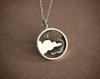 Moonlit Night Necklace - Sterling Silver