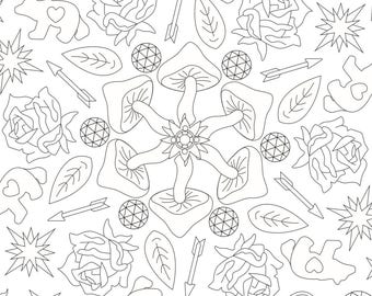psychedelic adult coloring page - Psychedelic Coloring Book