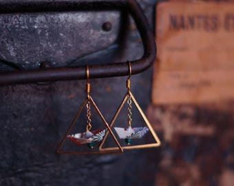 Mio origami earrings