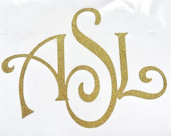 Custom Vinyl Monogram Decal