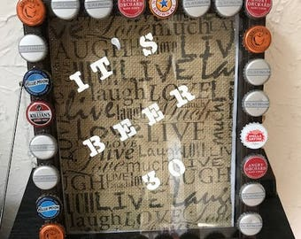 Beer thirty shadow box