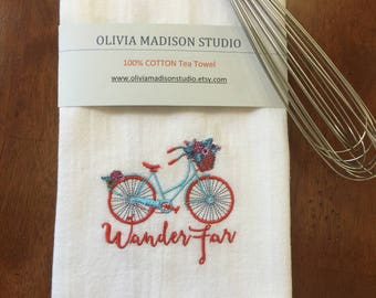 Tea Towel, Kitchen Towel, Bicycle kitchen Towel, Dish Cloths, Dish Towels