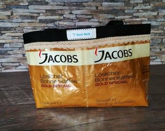 Handmade handbag coffee bags of Jacobs - small coffee bag, UPCYCLING