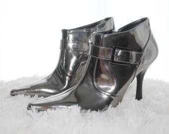 Gianni Bini Silver Ankle Boots Sz. 8