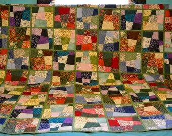 Crazy Quilt with Batik Backing