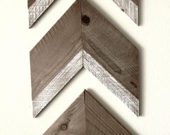 Wood Chevron Arrows - Rustic Aged Cedar (can be customized)