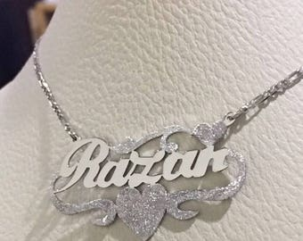 silver pendant necklace sterling 925 or silver plated gold