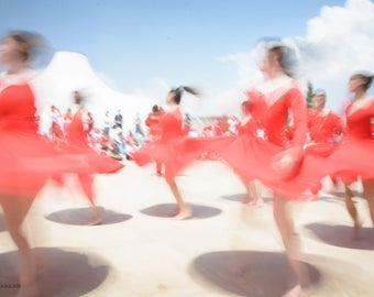 Abstract Jerusalem dancers, Dance photography, Dancers in red # 2