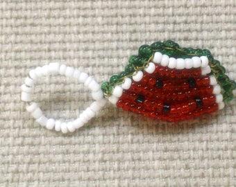 Watermelon from beads (keychain)