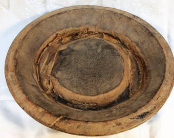 Rustic wooden bowl - Large