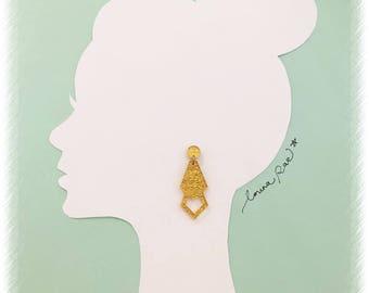 Khloe Dangle Earrings - Fabric Gold