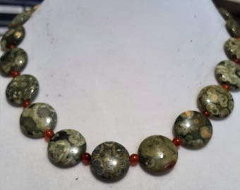 Ryolite & Red Agate