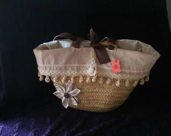 Palm carrycot basket bag