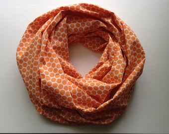 Polka Dot Infinity Scarf - Orange
