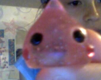 Small Pink Glitter Jelly Drop