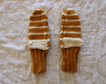 simple striped mittens