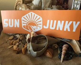 Sun Junky Decal/Sticker Bigger Bolder Brighter