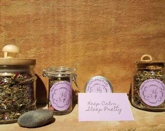 Keep Calm, Sleep Pretty- chamomile- Nighttime tea - calming tea - loose leaf - organic -  herbal- lavender -vanilla-berry- decaf green tea