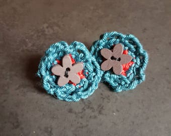 Earrings, Stud Earrings, crochet