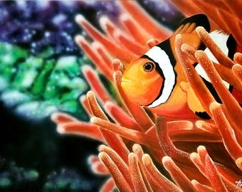 In the anemone where it's safe