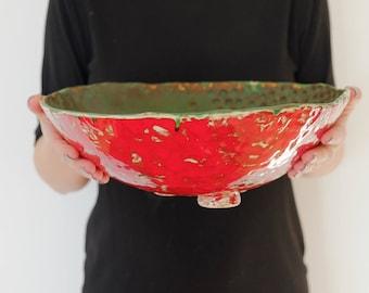 Ceramic rustic bowl Handmade ceramic bowl Big ceramic bowl Pottery bowl Ceramic serving bowl Ceramics and pottery Handmade stoneware bowl