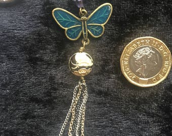 Butterfly pendant keyring