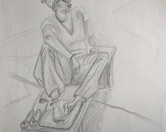 Seated Life Drawing