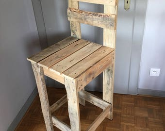 Stool is part of pallet wood