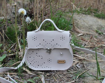 Handmade leather handbag Reggie