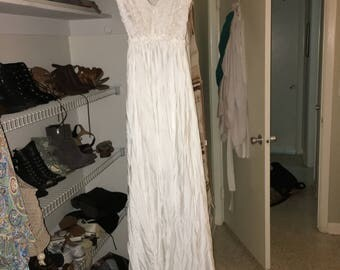 Prom/ Wedding White Gown