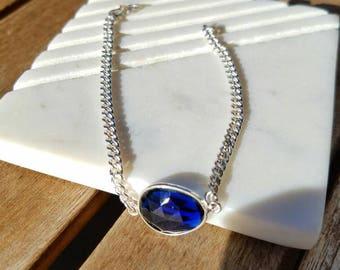 Blue Sapphire Handmade 925 Sterling Silver Bracelet