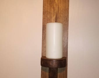 Wooden wall candle holders