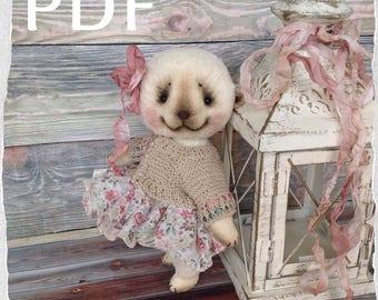 Pattern Teddy Bear, Ooak Teddy, teddy, bear, Pdf teddy. OOAK pdf teddy, PDF pattern. DIY. Do it yourself. Make it yourself. Create a toy.
