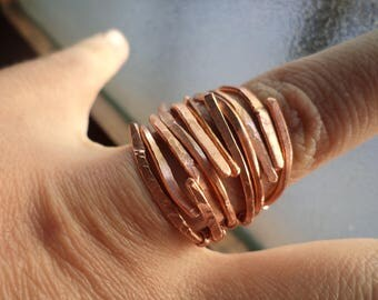 wrought copper wire ring