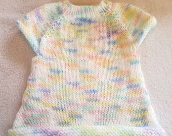 Handmade knit baby tunic