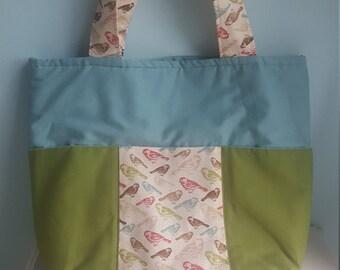 Handmade Six Pocket Tote Bag