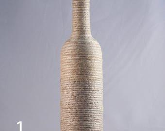 Skinny Twine Wrapped Wine Bottle