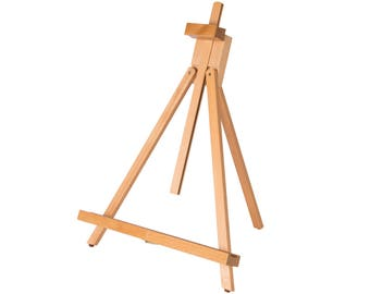 "Professional Adjustable 18-31 1/2"" Table Display Easel Medium Beech Wood A-Frame Easel"