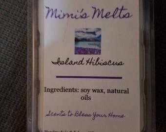 Natural, Vegan Soy Wax Melts - Island Hibiscus