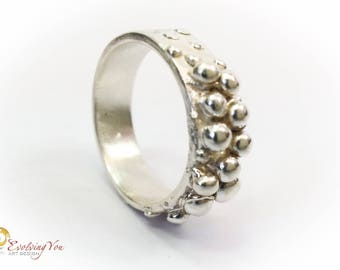 """Silver Ring """"Silver Beads"""""""