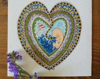 Placenta Baby Art
