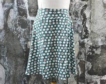 Size 5,6,8,10,12--Organic Knit Skirt in Pebble Dot