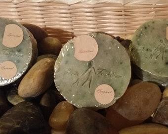 Handmade body bar soap -coconut fragrance -organic-spirulina powder- shea butter- handcrafted-vegan