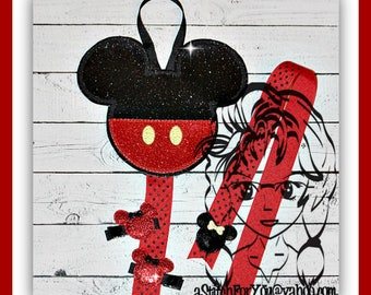 Mr MoUSE Mouse Head Inspired ITH BOW HoLDER ~ In The Hoop ~ Downloadable DiGiTaL Machine Embroidery Design by Carrie