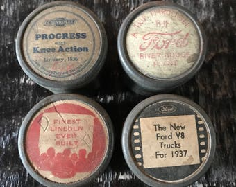 SALE! Vintage Ford & Chevrolet 35 mm Films in original tin canisters