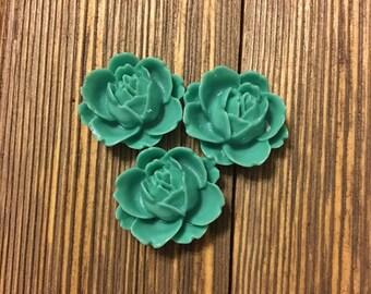 Flower Cabochons - Set of 3