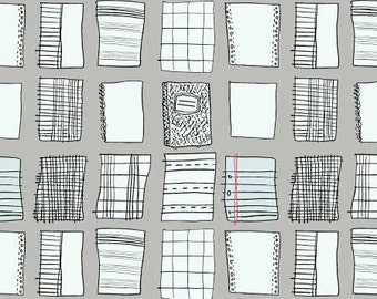 Fat quarter Paper Index cotton quilt fabric - Windham Fabrics, Paper Obsessed by Heather Givans